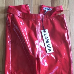 I.AM.GIA. New red leather pant